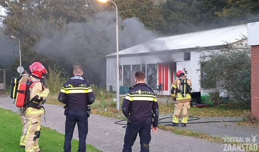 Brand in oude kantine ZTS/Rood Wit Zaanstad