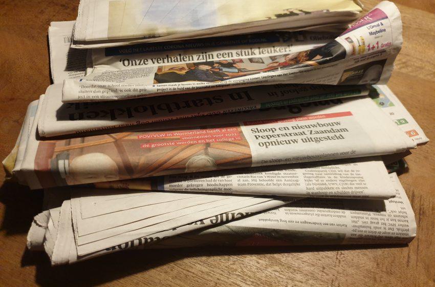 Geen inzameling door WSV'30 oud papierploeg