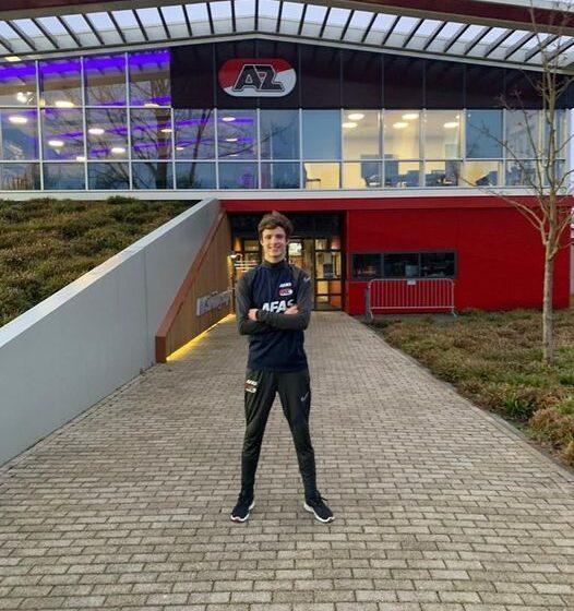 Talentvolle keeper KFC o-14 Sem de Haas op proef bij AZ